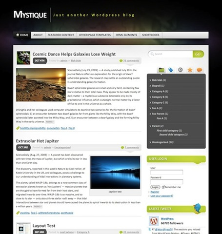 best free wordpress themes 2010